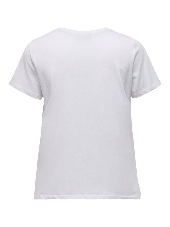 CURVY PRINTET T-SHIRT, Bright White, large