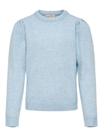 PUFF SLEEVE KNITTED PULLOVER