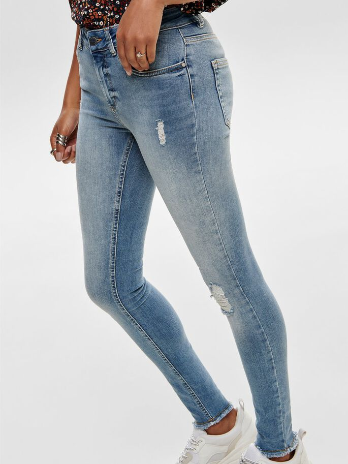 BLUSH ANKLE SKINNY FIT JEANS, Light Blue Denim, large