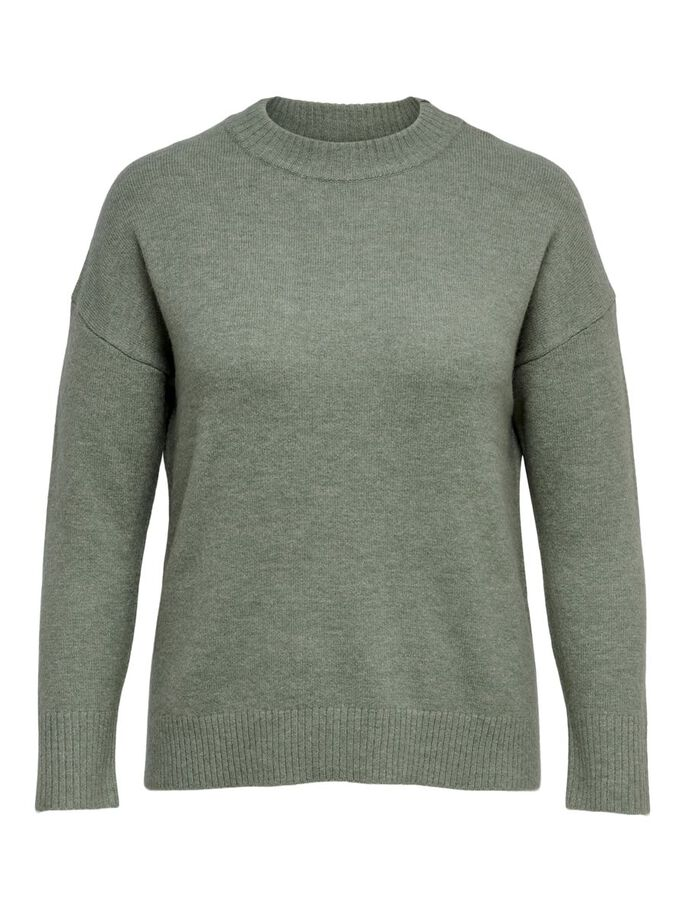 CURVY LOOSE PULLOVER, Shadow, large