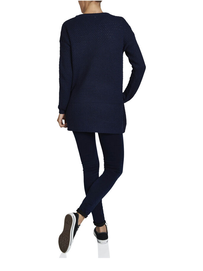 LONG CARDIGAN, Navy Blazer, large