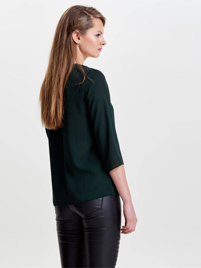 AVEC FINITIONS BLOUSE MANCHES 3/4, Scarab, large