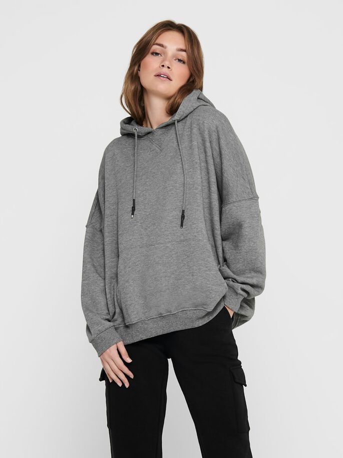 OVERSIZE SWEATSHIRT, Medium Grey Melange, large