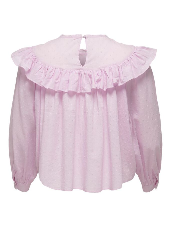 CURVY FRILL TOP, Orchid Bloom, large