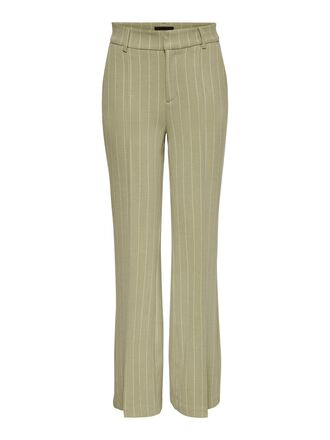 PIN STRIPED FLARED TROUSERS