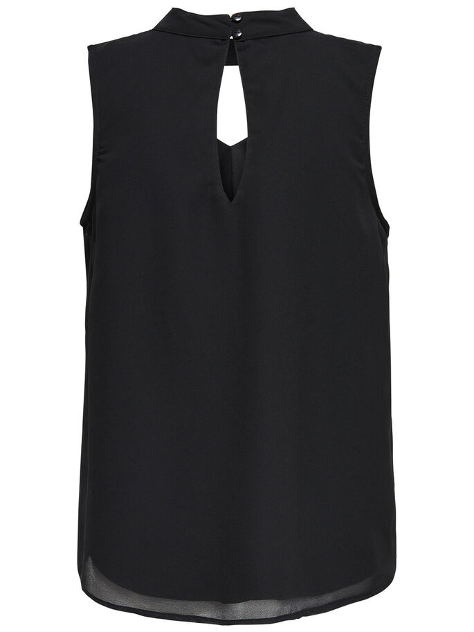 CHOKER SLEEVELESS TOP, Black, large