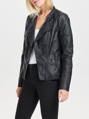 FAUX LEATHER BIKER JACKETS