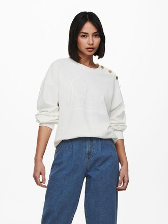 BUTTON DETAIL SWEATSHIRT