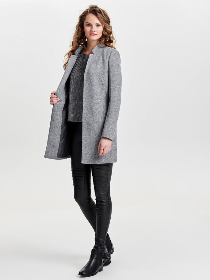 ÅBEN COATIGAN, Light Grey Melange, large