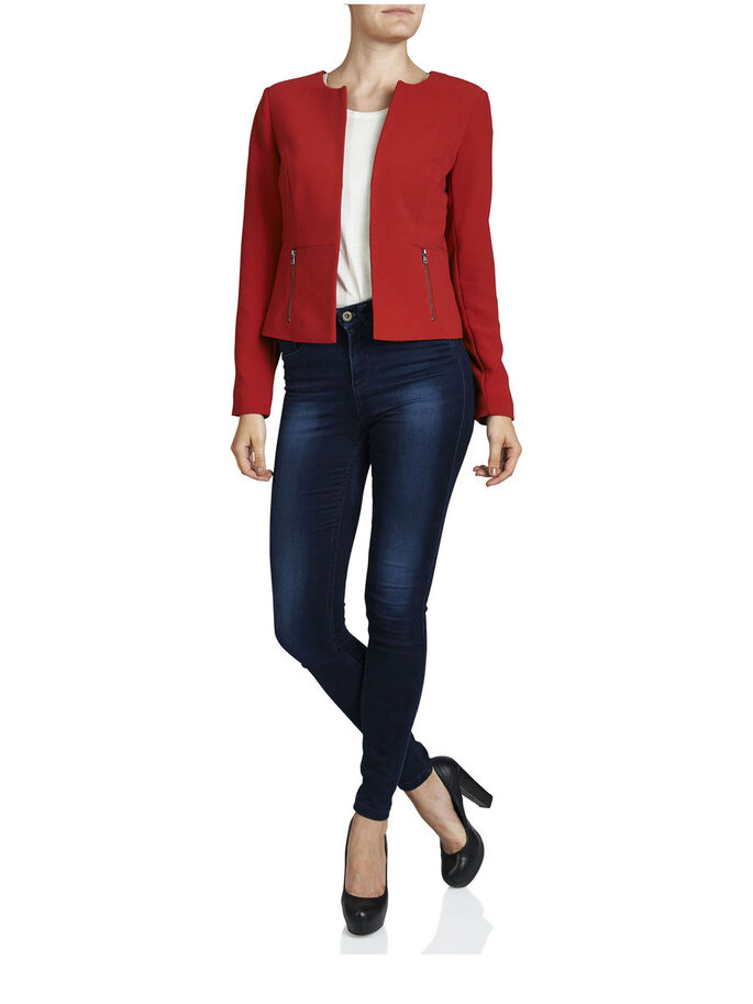 CROPPED BLAZER, Barbados Cherry, large