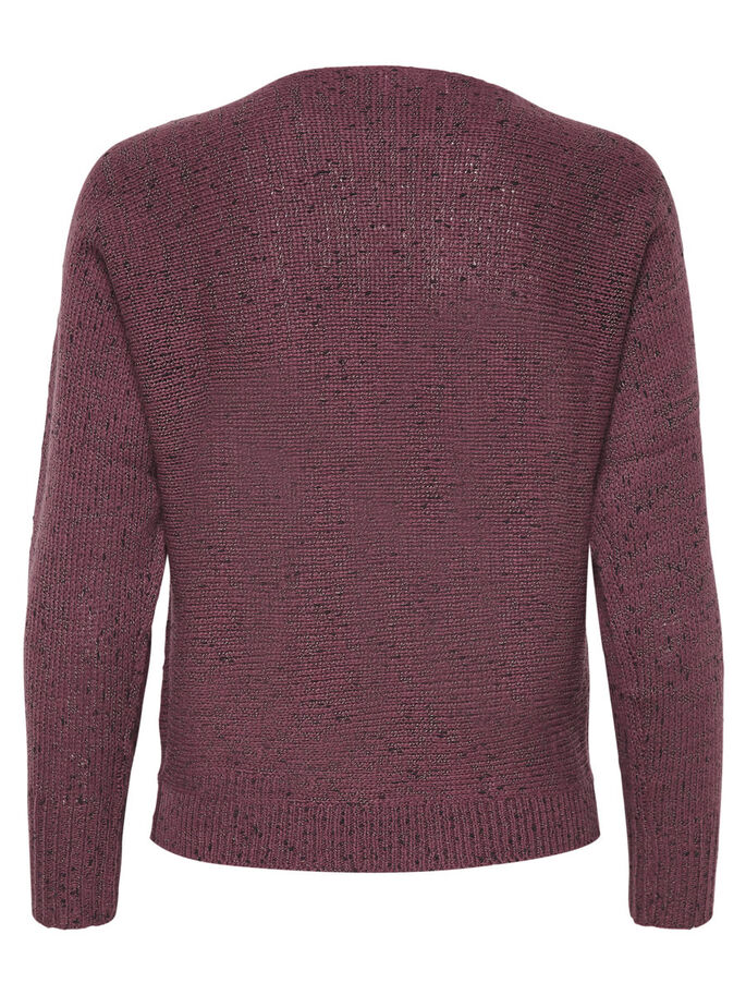 SOLID KNITTED PULLOVER, Rose Brown, large