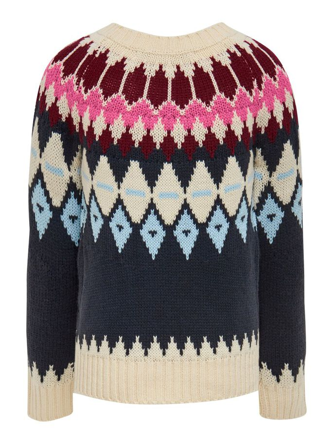 PATTERNED KNITTED PULLOVER, Ecru, large