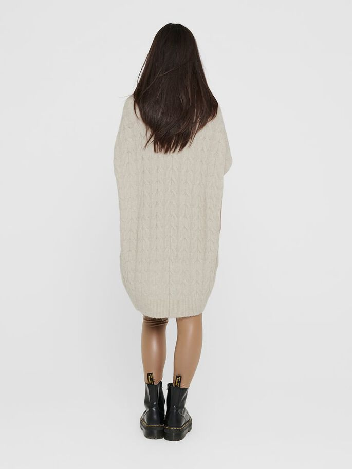 LONG KNITTED PULLOVER, Pumice Stone, large