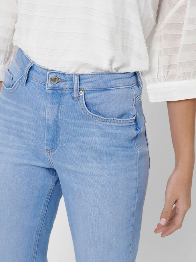 Only Onlveneda Life Mom Baby Blue BB JNS Rea Jeans Donna