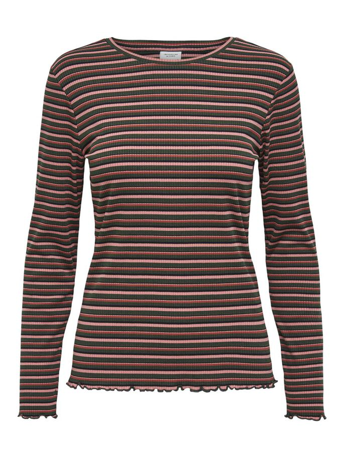 STRIPED TOP, Forest Night, large