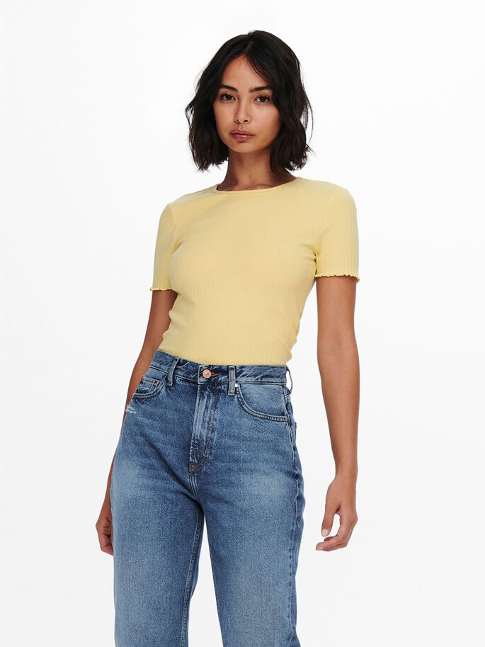 CROPPED TOP, Straw, large