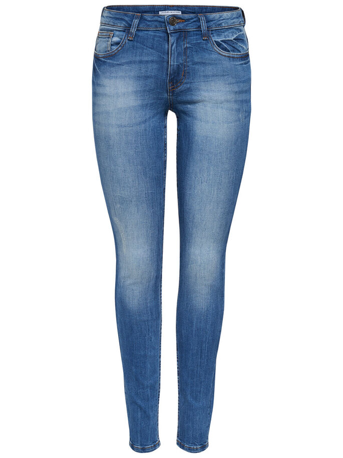 JDY LOW FLORENCE SKINNY FIT JEANS, Light Blue Denim, large
