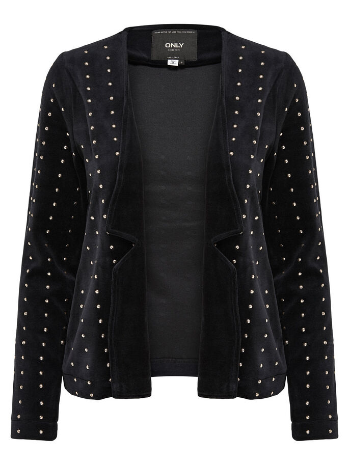 STUDS BLAZER, Black, large