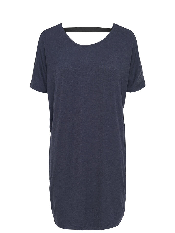 SHORT SLEEVED DRESS, Navy Blazer, large