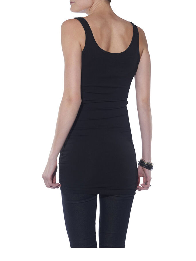BASIC EXTRA LONG TANK TOP, BLACK, large