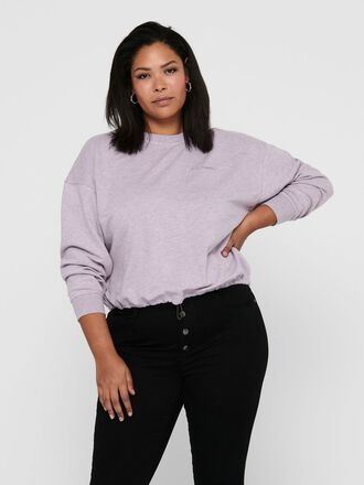CURVY SOLID COLORED SWEATSHIRT