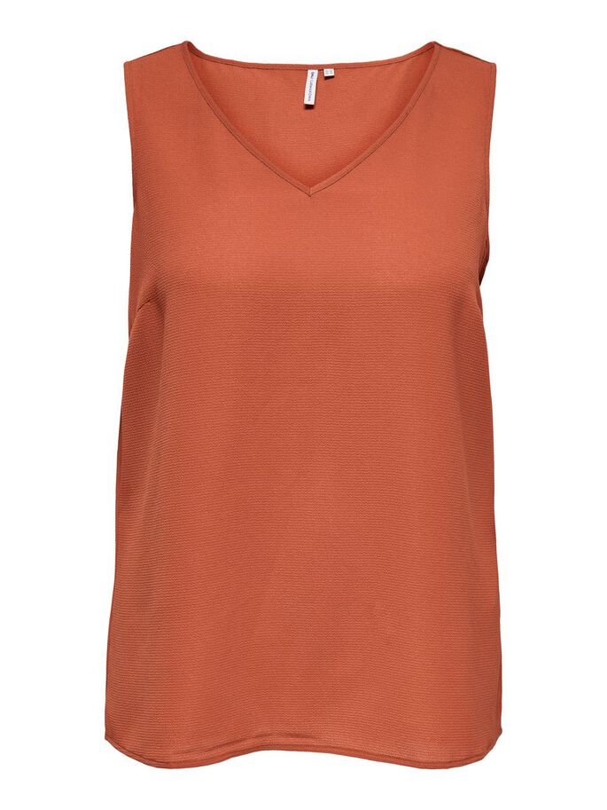 SOLID COLORED TOP, Cinnabar, large