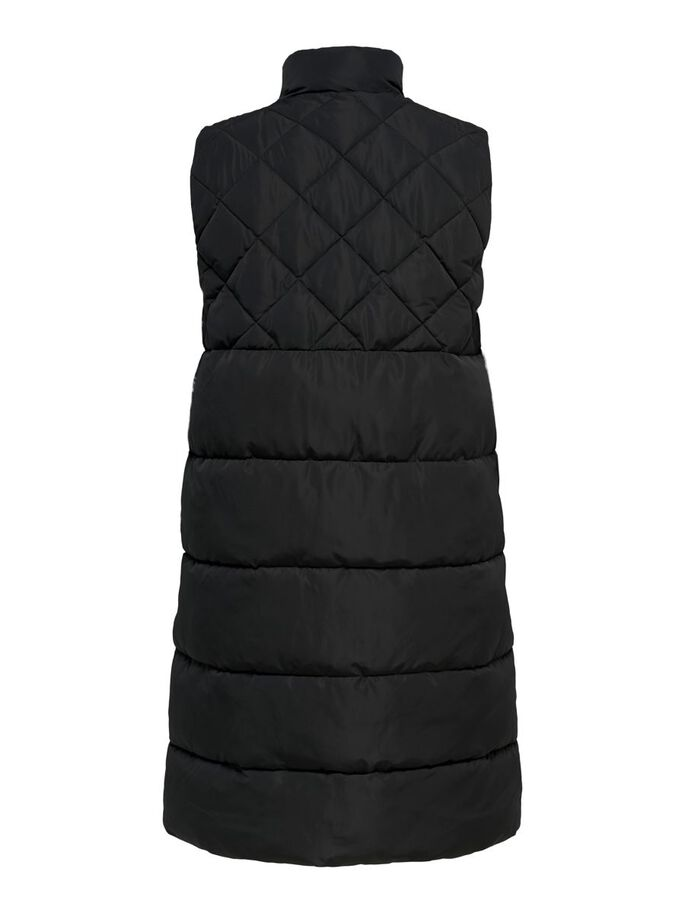 CURVY QUILTED WAISTCOAT, Black, large