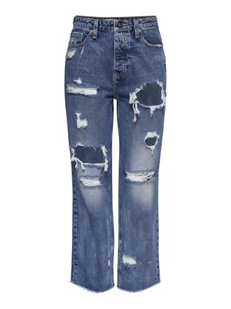 ONLROXY LIFE HW ANKLE STRAIGHT FIT JEANS