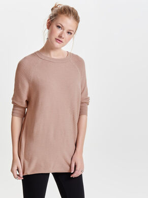 LOOSE FIT TOP MET 3/4 MOUWEN