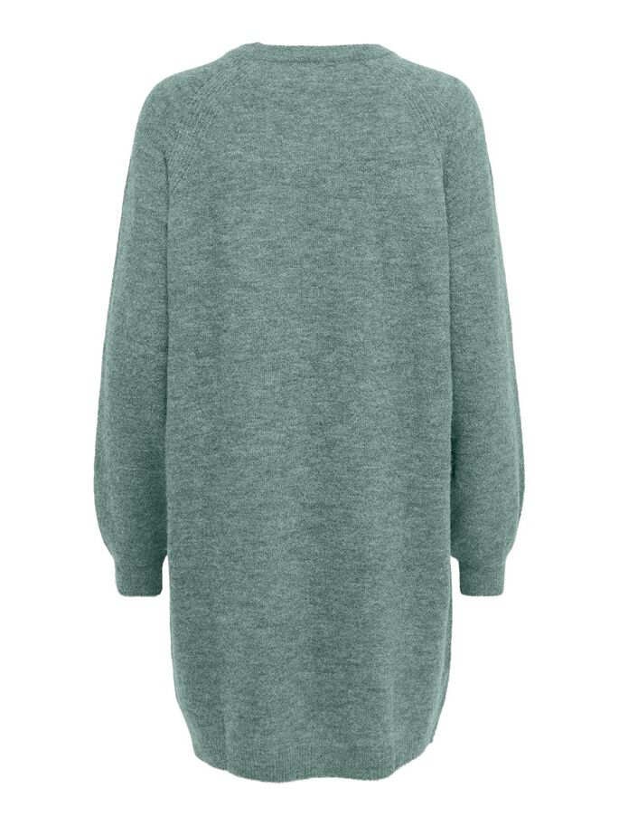 LOOSE FITTED KNITTED DRESS, Chinois Green, large