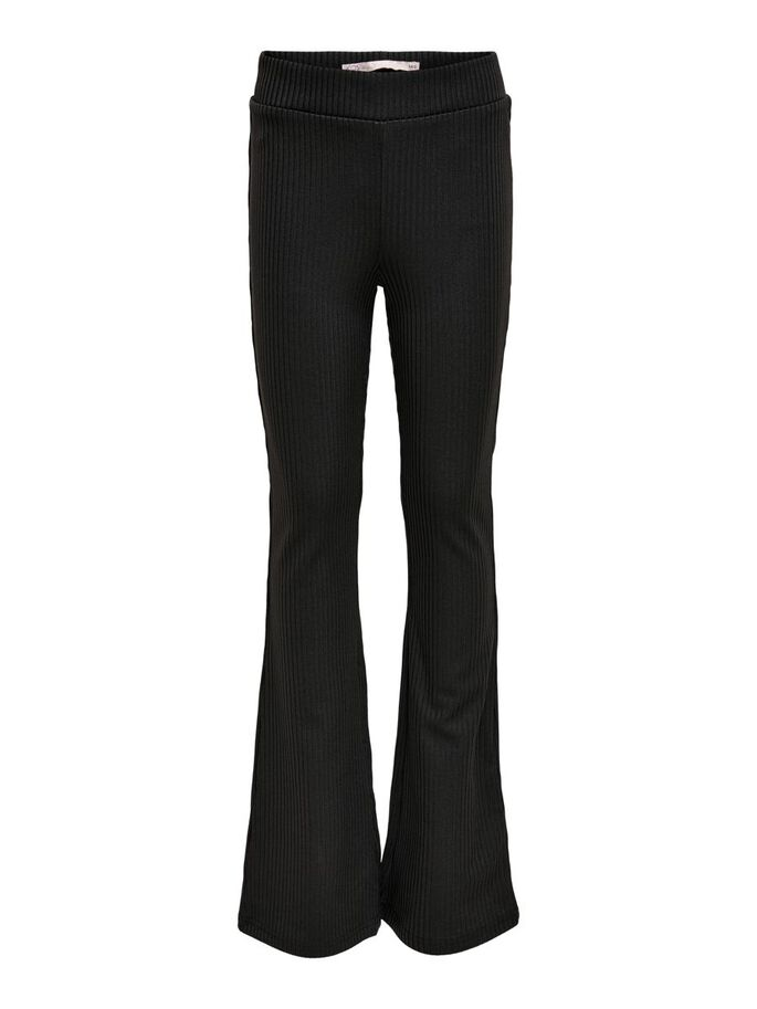 FLARED TROUSERS, Black, large