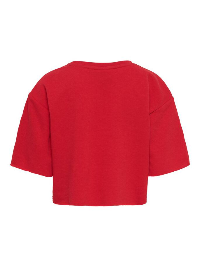 CROPPED TOP, High Risk Red, large