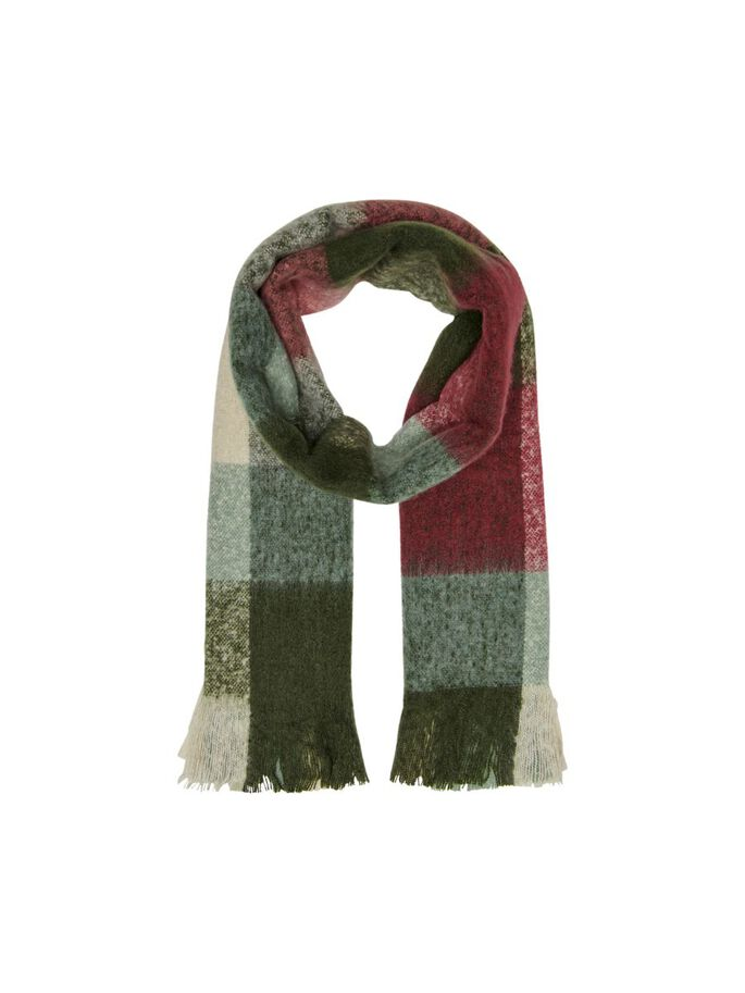 CHECKED SCARF, Rosin, large