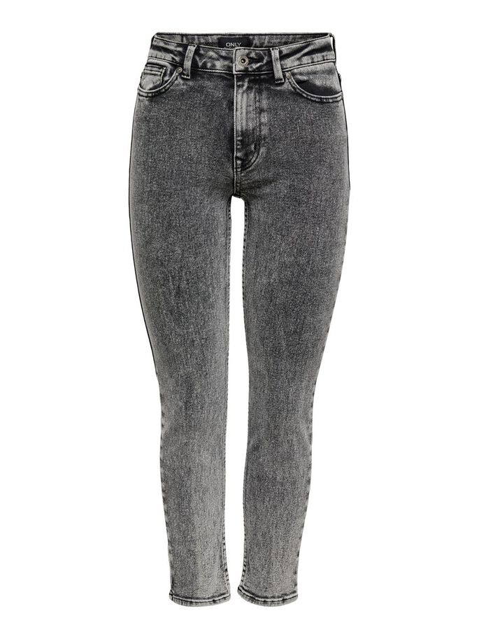 ONLERICA LIFE MID ST ANKLE BB STRAIGHT FIT JEANS, Black, large