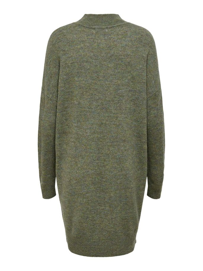 LOOSE FITTED KNITTED DRESS, Jade Green, large
