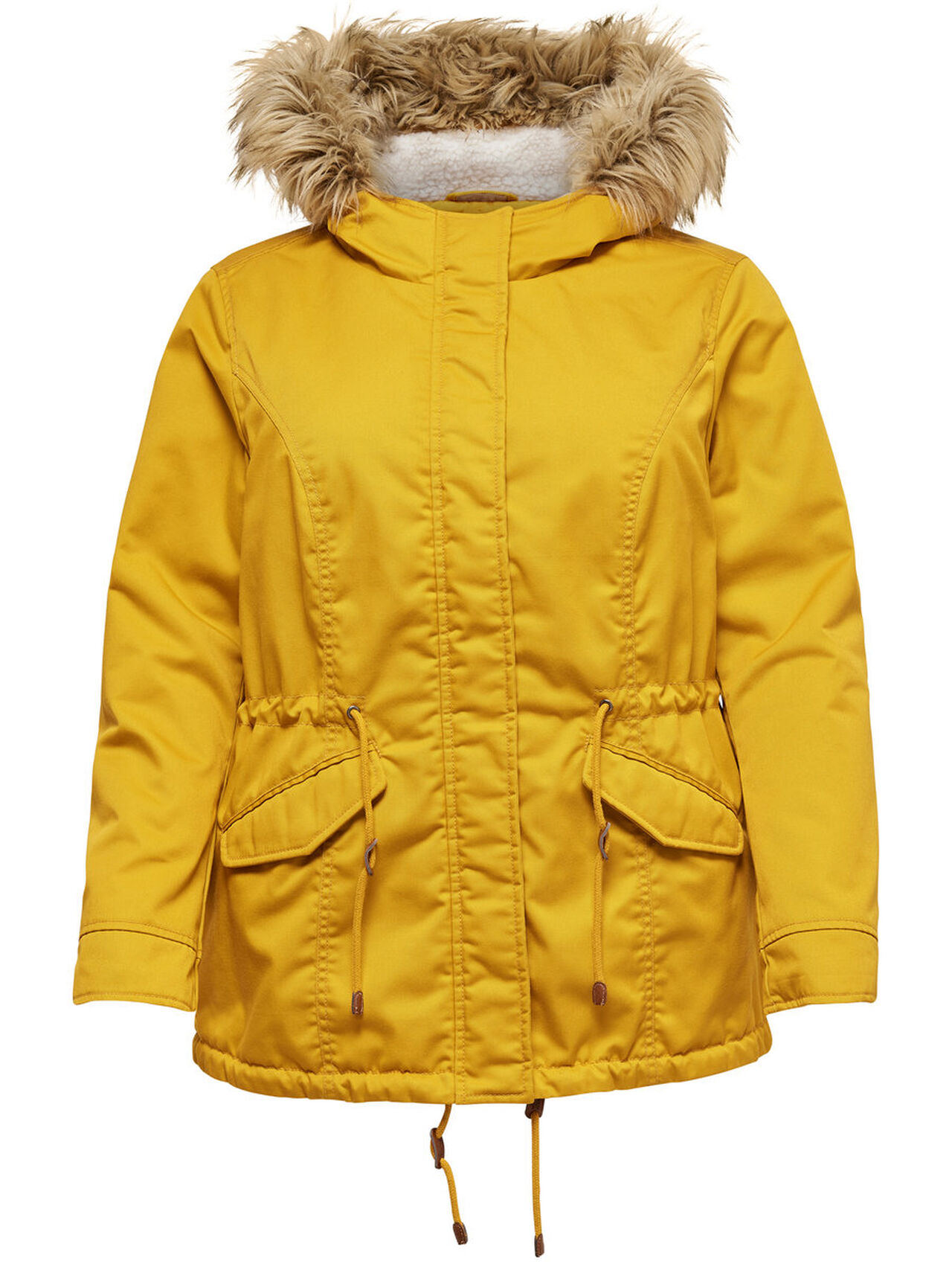 0a6f867919b ONLY CURVY SOLID PARKA COAT