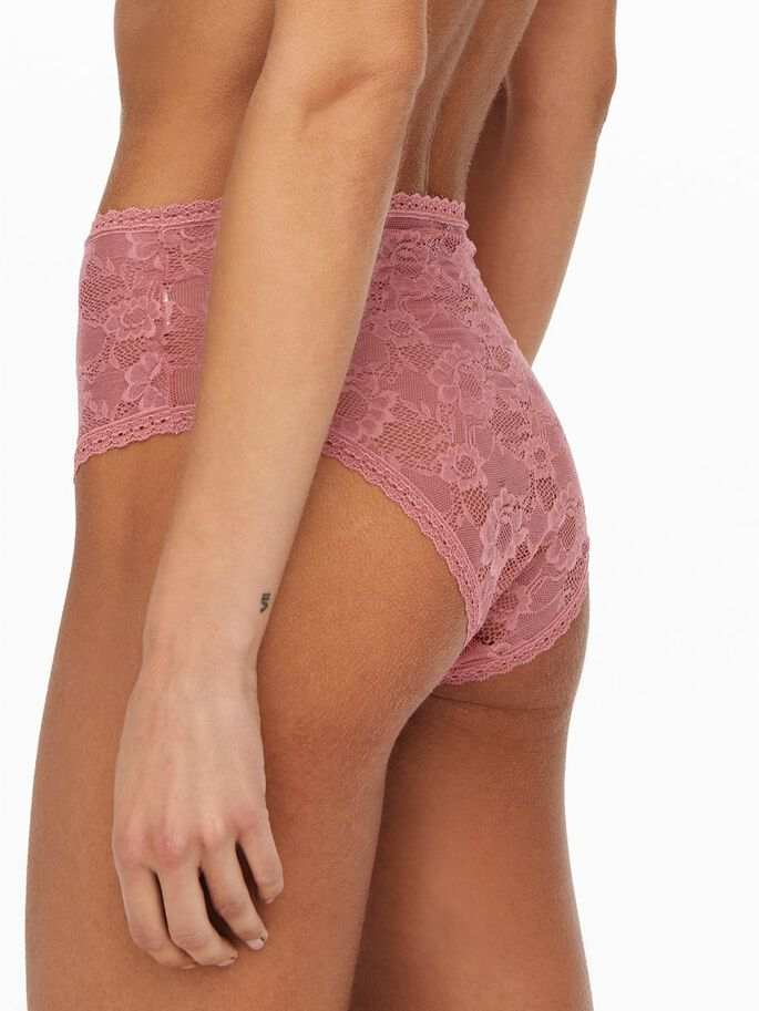 2-PACK HIGHWAISTED LACE BRIEFS, Faded Rose, large