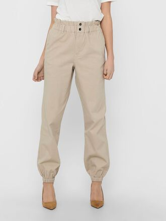 SOLID COLORED CARGO TROUSERS