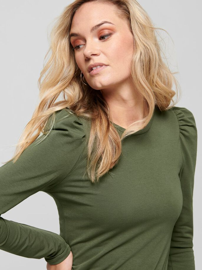 PUFF LONG SLEEVED TOP, Kalamata, large