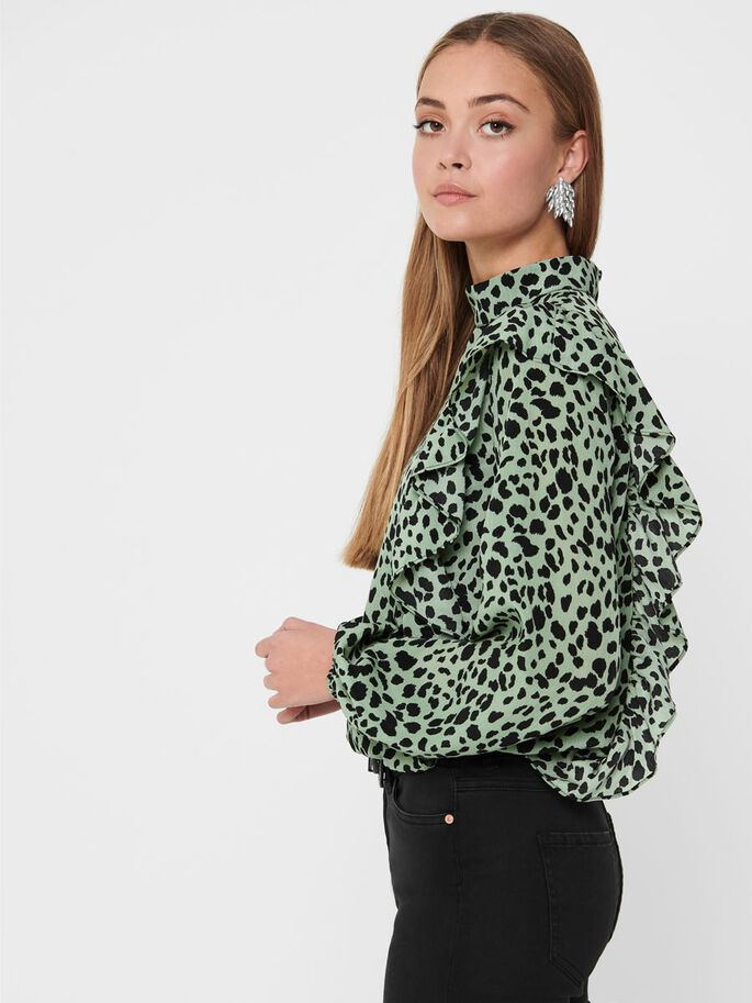 COL MONTANT TOP, Seagrass, large