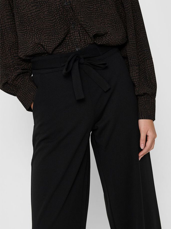 WIDE FITTED TROUSERS, Black, large