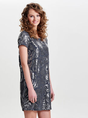 SEQUINS SHORT SLEEVED DRESS