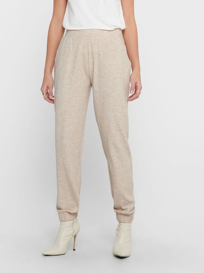 SOLID COLORED TROUSERS, Pumice Stone, large
