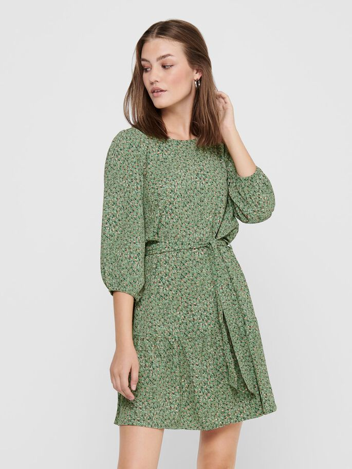 PRINTED DRESS, Basil, large