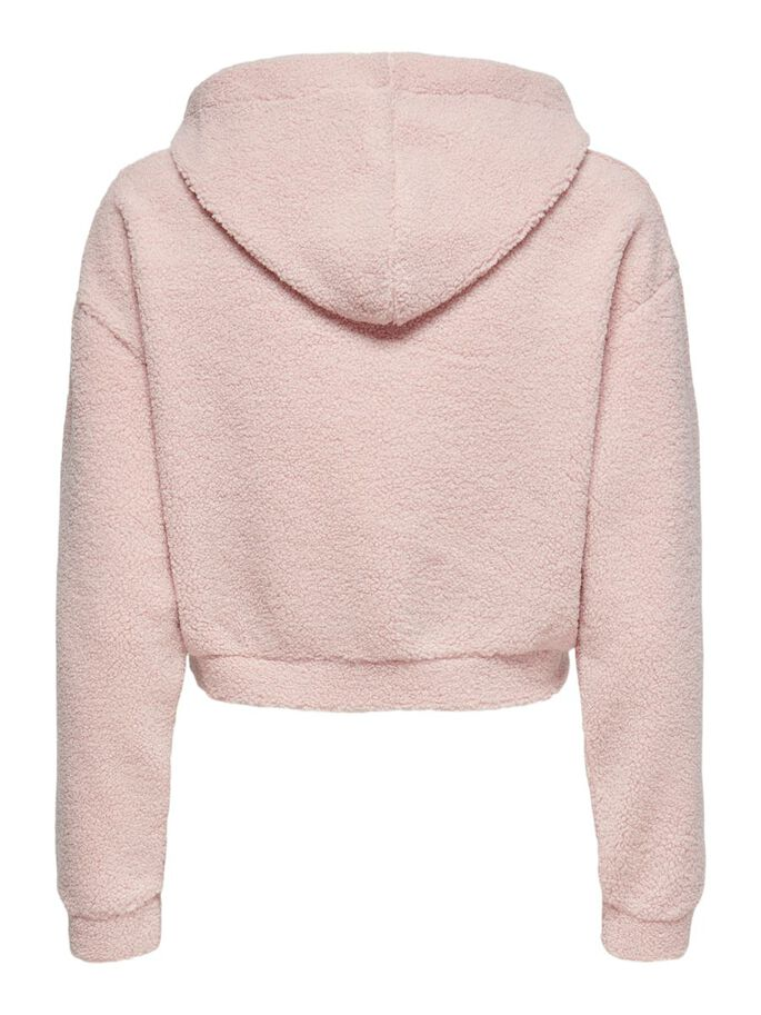 SOLID COLORED HOODIE, Sepia Rose, large