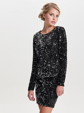 SEQUINS LONG SLEEVED TOP