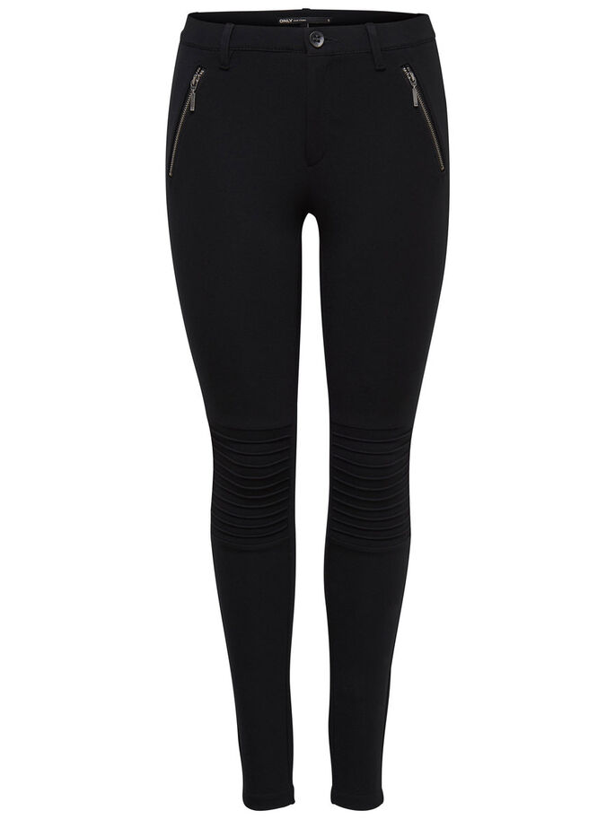 FERMETURE ÉCLAIR PANTALON, Black, large