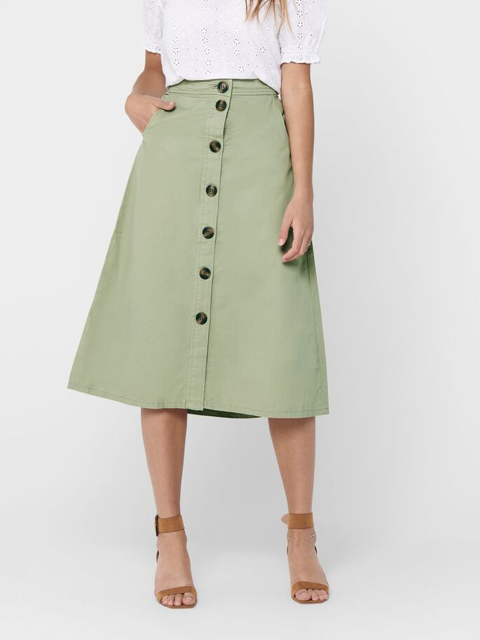 BUTTON UP MIDI SKIRT, Mermaid, large