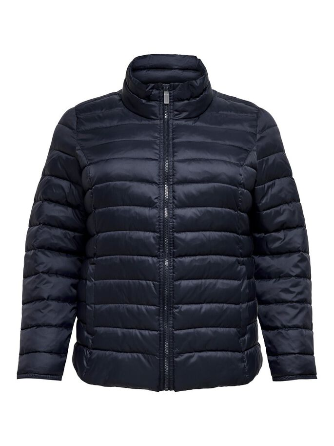 CURVY SHORT QUILTED JACKET, Night Sky, large
