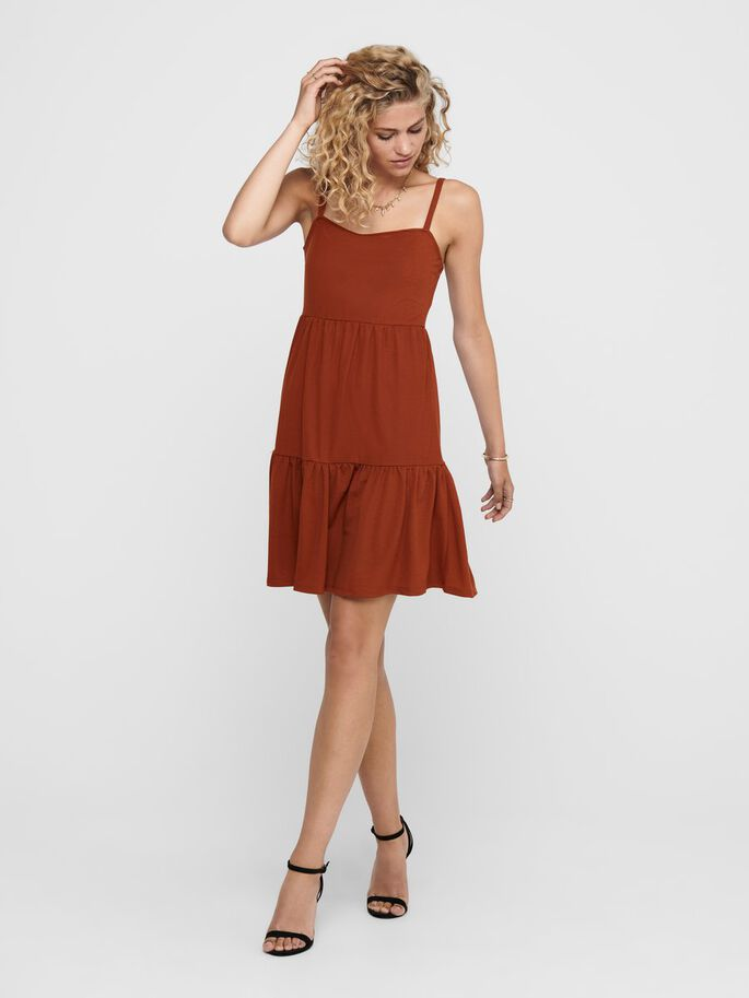 LOOSE FITTED DRESS, Burnt Henna, large